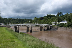 Chepstow Bridge and the River Wye Stock Photography
