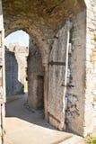 Chepstow castel ruiny, podstawa, 1067-1188 obraz royalty free