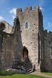 Chepstow castel ruiny, podstawa, 1067-1188 zdjęcie stock