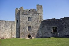 Chepstow Castle. Marten's Tower at Chepstow Castle in Monmouthshire South Wales Royalty Free Stock Image