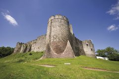 Chepstow castle monmouthside wales Stock Photography