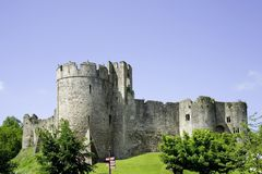 Chepstow castle monmouthside wales Stock Photo
