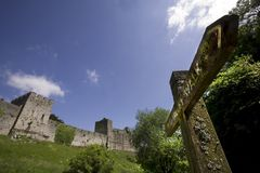 Chepstow castle monmouthside wales Royalty Free Stock Images
