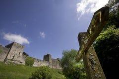 Chepstow Schloss monmouthside Wales Lizenzfreie Stockbilder