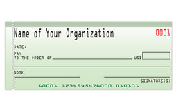 Cheque royalty-vrije illustratie