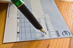 Cheque Stock Afbeeldingen