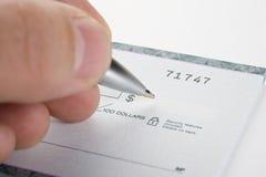 Cheque Imagem de Stock