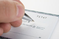 Cheque Imagen de archivo