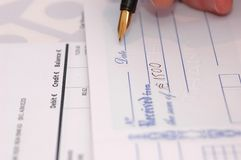 Cheque Royalty Free Stock Photo