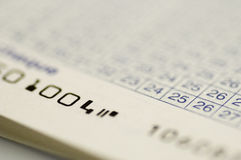 Cheque  account book close up Stock Image