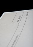 Cheque in american dollars Stock Image