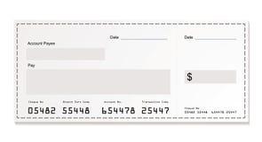 Cheque blanco del dólar ilustración del vector