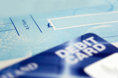 Cheque Book & Card Stock Photo