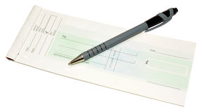 Cheque Book And Pen Royalty Free Stock Photos