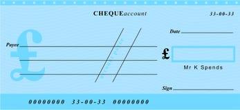 Cheque da libra ilustração royalty free