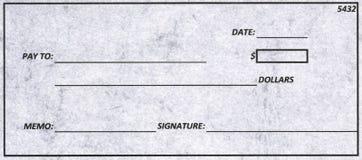 Cheque de Dollas Fotografía de archivo libre de regalías