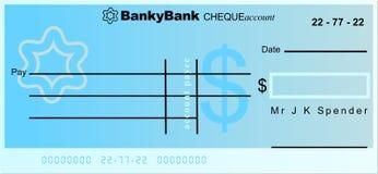 Cheque del dólar ilustración del vector