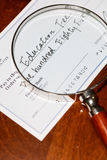 Cheque for education fee Stock Photography