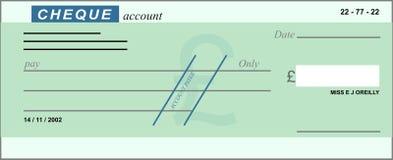 Cheque en blanco ilustración del vector
