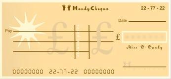 Cheque práctico stock de ilustración
