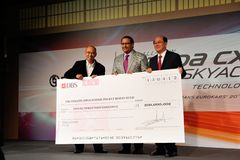 Cheque presentation during launch of Mazda CX-5 Royalty Free Stock Image