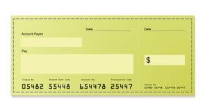 Cheque verde del dólar libre illustration
