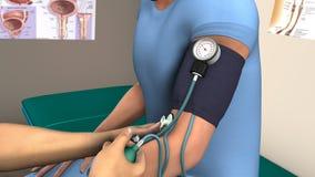 Chequeo de la presión arterial fotos de archivo