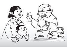 Chequeo de las saludes infantiles Imagen de archivo libre de regalías
