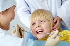 Chequeo dental imagen de archivo
