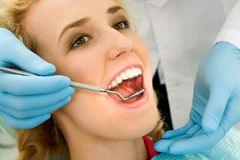 Chequeo dental Imagenes de archivo