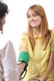 Chequeo, presión arterial fotos de archivo libres de regalías