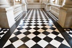 Chequer floor Stock Image
