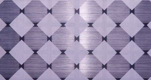 Chequer metal texture Royalty Free Stock Images