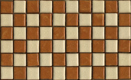Chequer tiles texture. The chequer mosaic tile texture stock photos