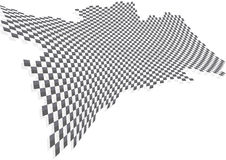 Chequered. Pattern with depth and shadow vector illustration