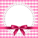 Chequered background with napkin and ribbon Royalty Free Stock Images