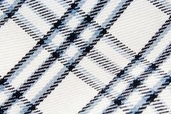 Chequered checked fabric dress material cloth texture pattern. Stock Photography
