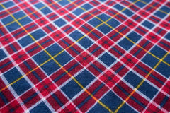 Chequered fabric in red, blue and white Royalty Free Stock Photo