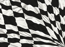 Chequered flag. Winning Chequered flag waving illustration Stock Photos