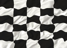 Chequered flag. Winning Chequered flag waving illustration royalty free illustration