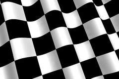 Chequered Flag. A 3d Rendered Chequered Flag Illustration royalty free illustration