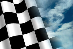 Chequered Flag. A 3d Rendered Chequered Flag Illustration Stock Image