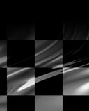 Chequered flag. With some folds in it Stock Photos