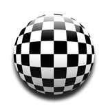 Chequered flag. In the style of a ball vector illustration