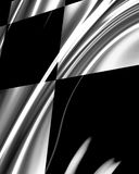Chequered flag. Chequered racing flag with some folds on it Stock Images