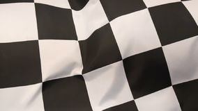 Chequered Flag. The chequered flag has a black-and-white chequered pattern, displayed to drivers at the end of a race stock video footage