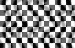 Chequered Flag Slight Ripple. Chequered flag background with a slight ripple royalty free illustration