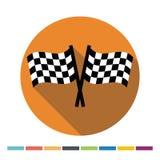 Chequered flaga sieci płaska ikona royalty ilustracja