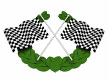 Chequered flags. 3D render of chequered flags Stock Photo