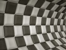 Chequered leather pattern with rectangle segments Royalty Free Stock Photo